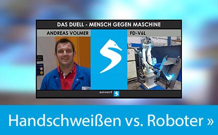 Handschweissen vs. Roboter